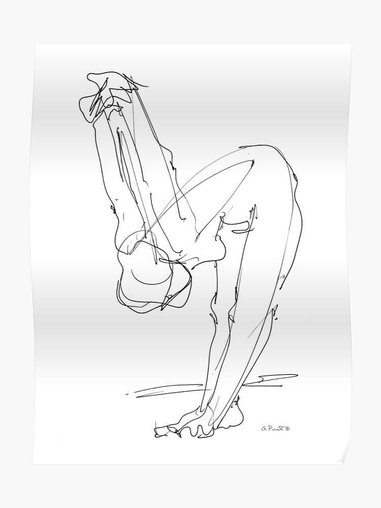 Mujer Desnuda Dibujo 9 Póster