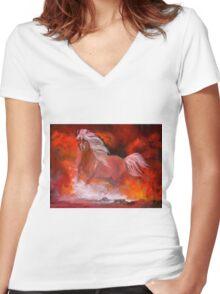 Stallion Women's Fitted V-Neck T-Shirt