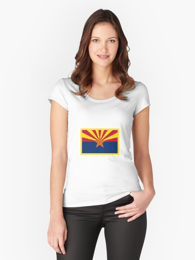 Arizona Flag Women's Fitted Scoop T-Shirt Front
