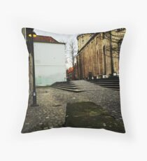 Twilight Lamppost  Throw Pillow