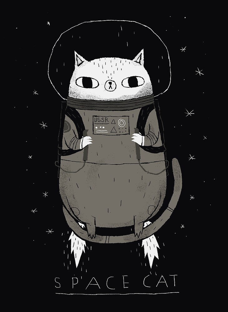 Quot Space Cat Quot By Louros Redbubble