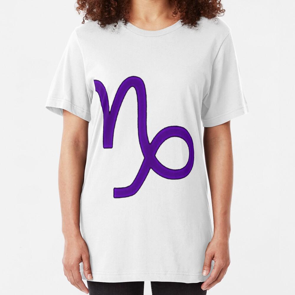 Capricorn Symbol Slim Fit T-Shirt