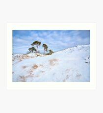 Winter in the hills Art Print
