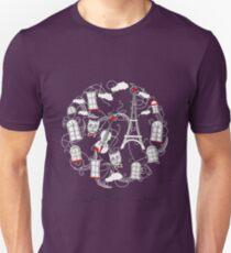 Music, City and Tour Eiffel T-Shirt