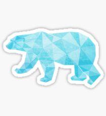 Geometric Ice Bear Sticker