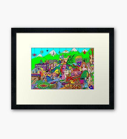 Alpine doodle Framed Print
