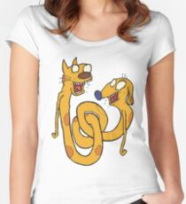 CatDawg - Coloured Women's Fitted Scoop T-Shirt