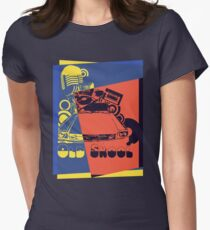 Retro Old School Pop Art Womens Fitted T-Shirt