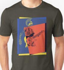 Pop Art Skeleton Guitar 3 Unisex T-Shirt