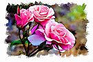 Pink roses - watercolour by PhotosByHealy