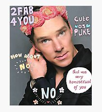Benedict Cumberbatch is a sassy gurl.  Photographic Print