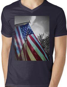 Home of the Free Mens V-Neck T-Shirt