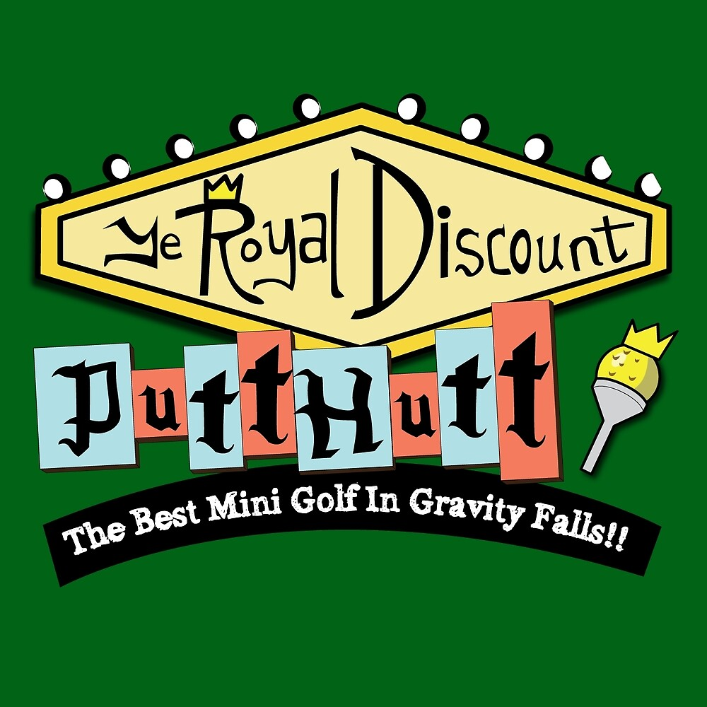 Gravity Falls Mini Golf - Turf Green by pondlifeforme