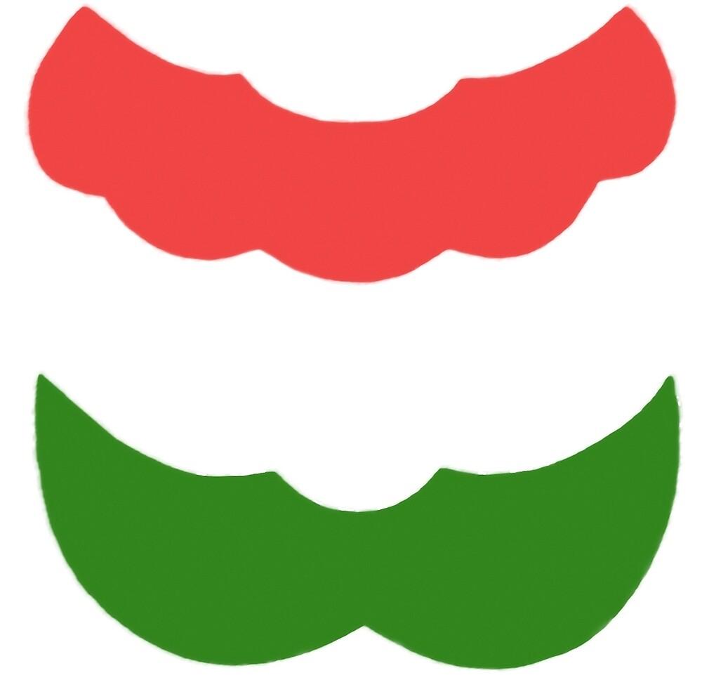 Mario and Luigi Mustache Design by designworks