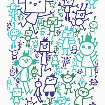 Robot Party by IndigoLiz