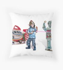 RayGun Rex ~ Its a stick up! Throw Pillow