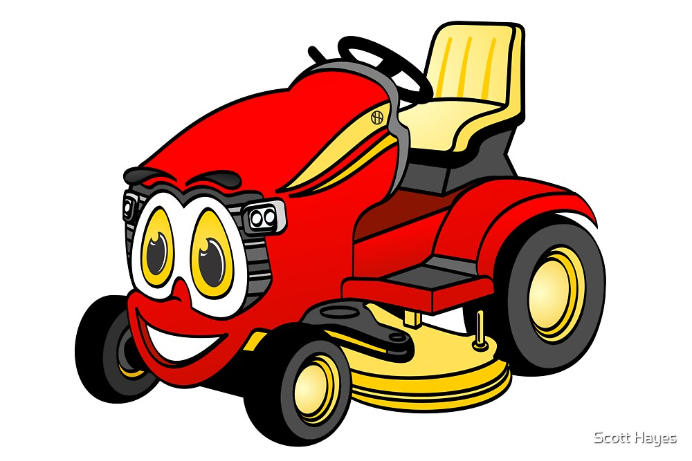 """""""Riding Lawn Mower Cartoon"""" by Graphxpro 
