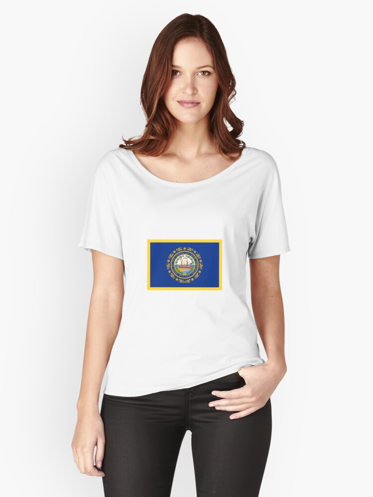 New Hampshire Flag Women's Relaxed Fit T-Shirt Front