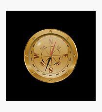 Golden Compass - Steampunk Photographic Print