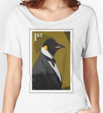 Old Timey Penguin Women's Relaxed Fit T-Shirt
