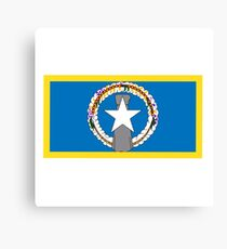Northern Marianas Flag Canvas Print