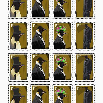 Penguin Stamps by penguinbackflip
