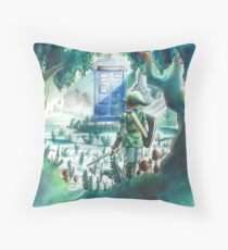 the Hero of Timey-Whimey Throw Pillow