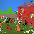 Battlestations. [after Louis Wain] by albutross