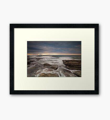 Sunrays at dawn Framed Print