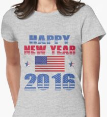 HAPPY NEW YEAR 2016 Women's Fitted T-Shirt