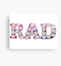 RAD FLOWERS Canvas Print