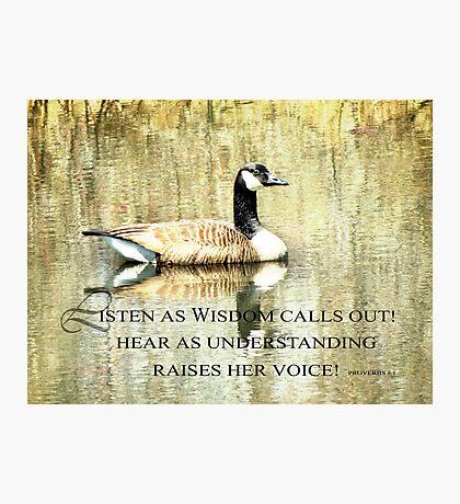 Wisdom-Proverbs 8:1 Photographic Print