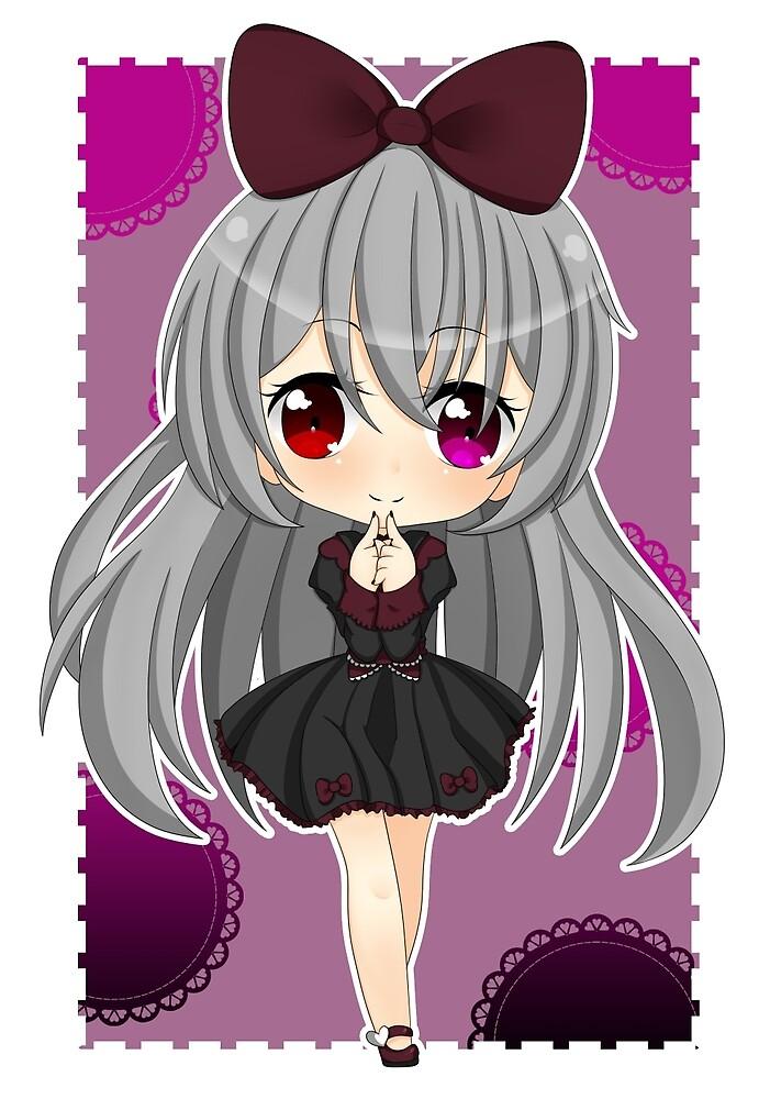 Gothic Lolita Chibi by PrincessKittyQT