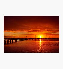"""Tangerine Dawn"" Photographic Print"