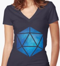 D20 Clear Sky View Women's Fitted V-Neck T-Shirt