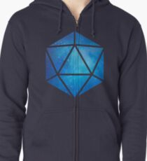 D20 Clear Sky View Zipped Hoodie