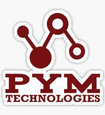 Pym Technologies Logo red Sticker