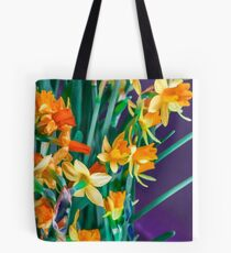 ABSTRACT DAFFODILS IN ORANGE Tote Bag
