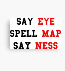 Eye Map Ness Canvas Print