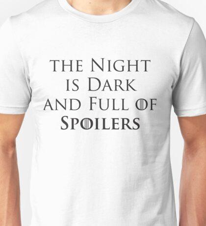 Game of Thrones - Spoilers Unisex T-Shirt