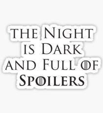 Game of Thrones - Spoilers Sticker
