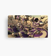 Bouncing Bots Canvas Print