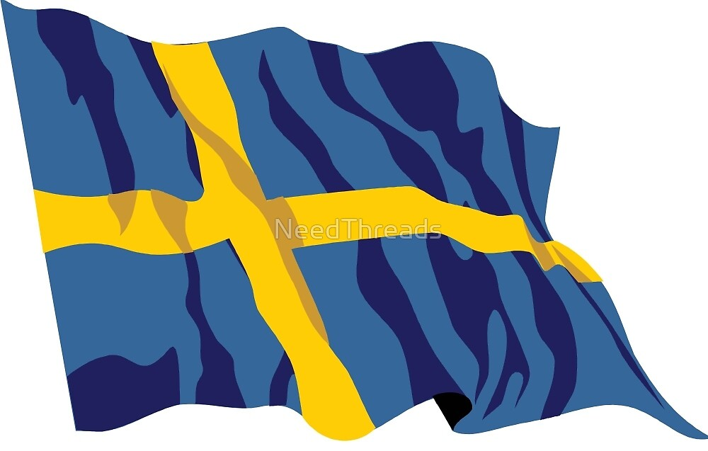 Sweden Flag by NeedThreads