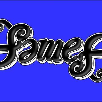 James ambigram by black-ink