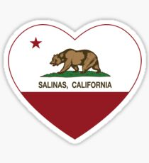 Salinas California Love Heart Sticker