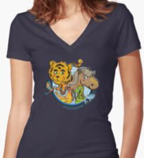 Animals Mix Nr. 1 Women's Fitted V-Neck T-Shirt