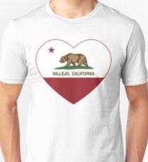 Vallejo California Love Heart  Unisex T-Shirt