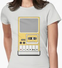 Portable Cassette Tape Recorder Womens Fitted T-Shirt