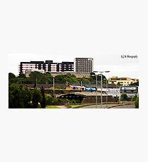 Train passing YorkHill Photographic Print