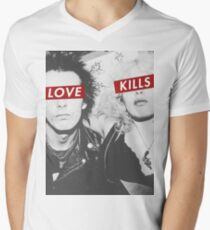 Love Kills - Sid & Nancy Men's V-Neck T-Shirt